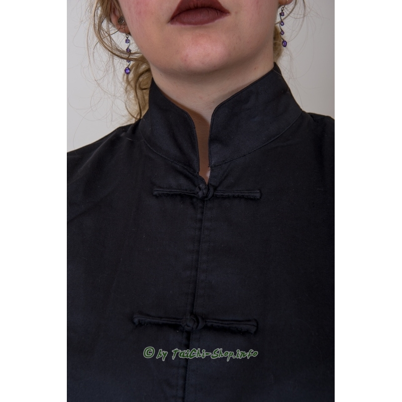 hochwertiger tai chi anzug aus schwarzer baumwolle 99 00. Black Bedroom Furniture Sets. Home Design Ideas